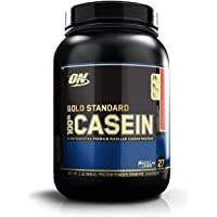 Optimum Nutrition (ON) Gold Standard 100% Casein Protein Powder - 2 lbs, 909 g (Strawberry)
