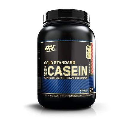 Optimum Nutrition (ON) Gold Standard 100% Casein Protein Powder - 2 lbs, 909 g (Banana) Casein Proteins at amazon