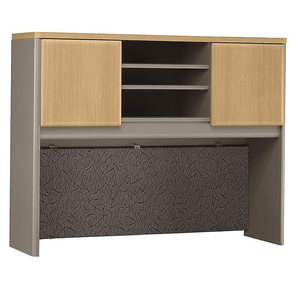 Bush Business Furniture Series A Collection 48W Hutch in Light Oak/Sage