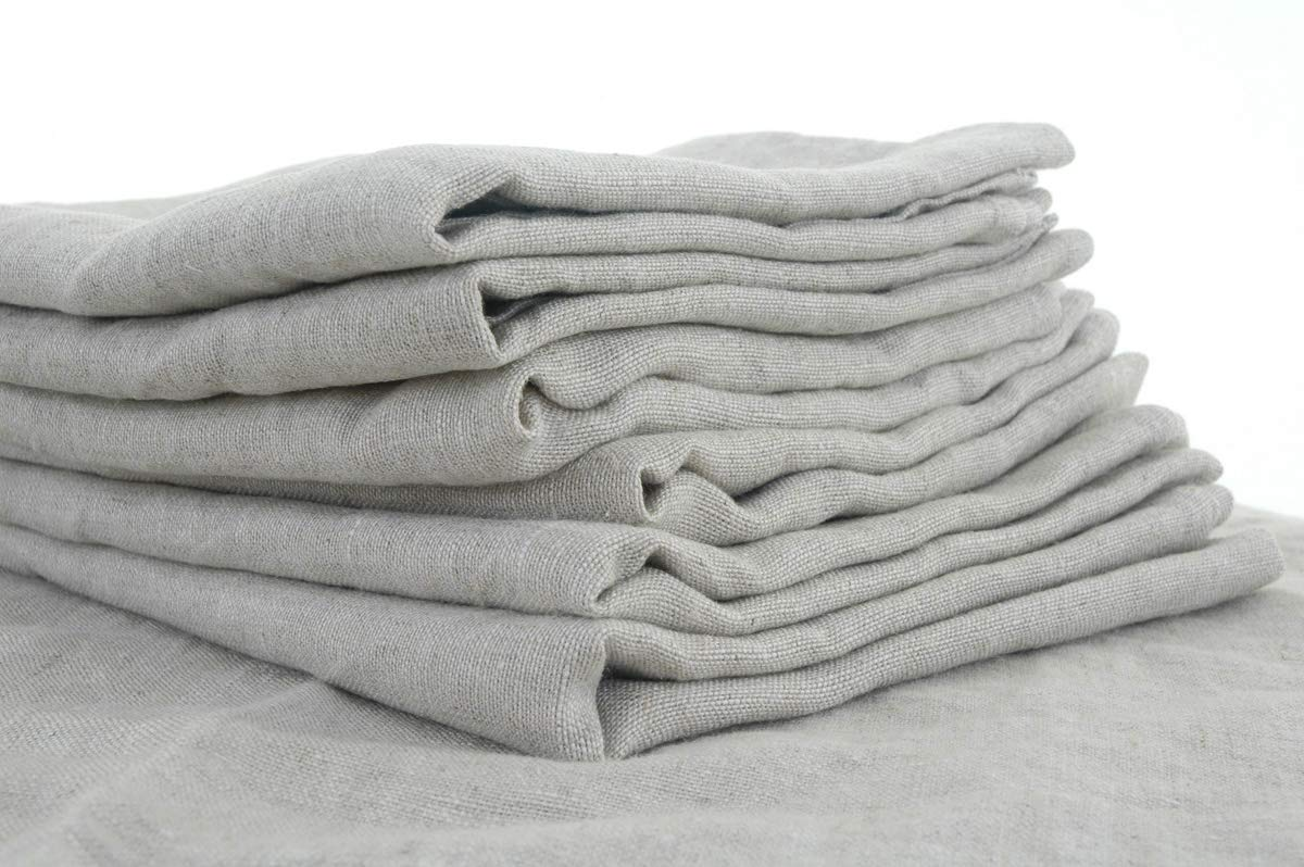 2 Super Sized Pure Natural Linen Napkins 70x70cm (28ins)