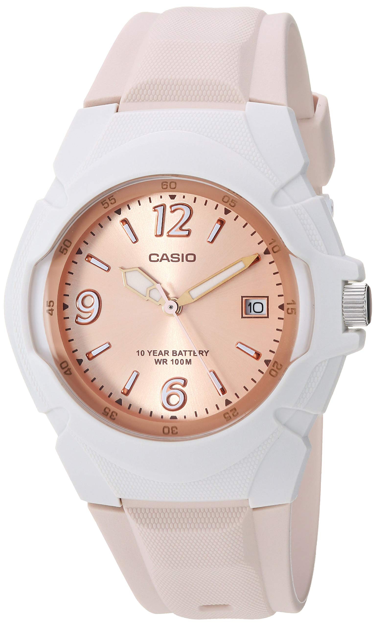 Casio Women's 'Sporty' Quartz Stainless Steel and Resin Watch, Color:Champagne (Model: LX-610-4AVCF)