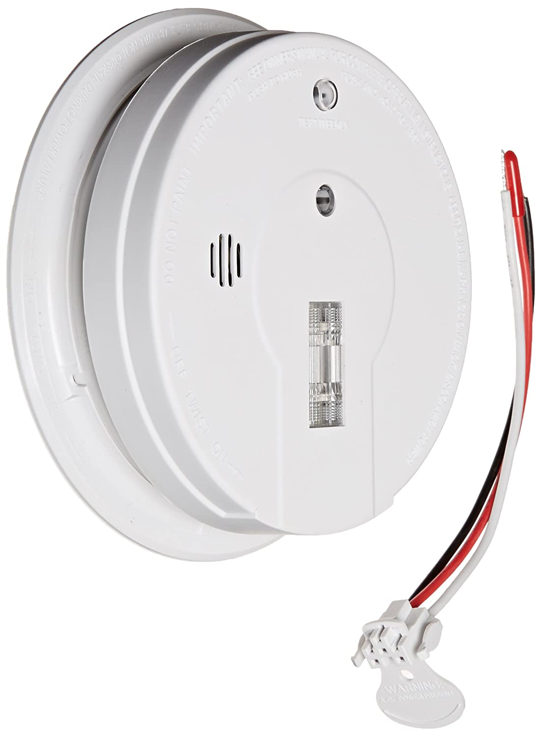 Kidde 408 21006379 Firex I12080 Hardwire Smoke Alarm With Exit Light Wiring Alarms Together And Battery Backup Industrial Scientific