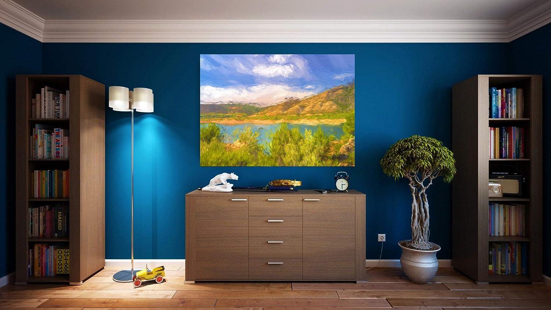 G | Cuadro Pintura Impresionista | Fabricado en PVC Forex 5 MM | Medidas 100cm x 70cm | Fácil colocación | Diseño Elegante | Impresión Digital (1 Unidad)