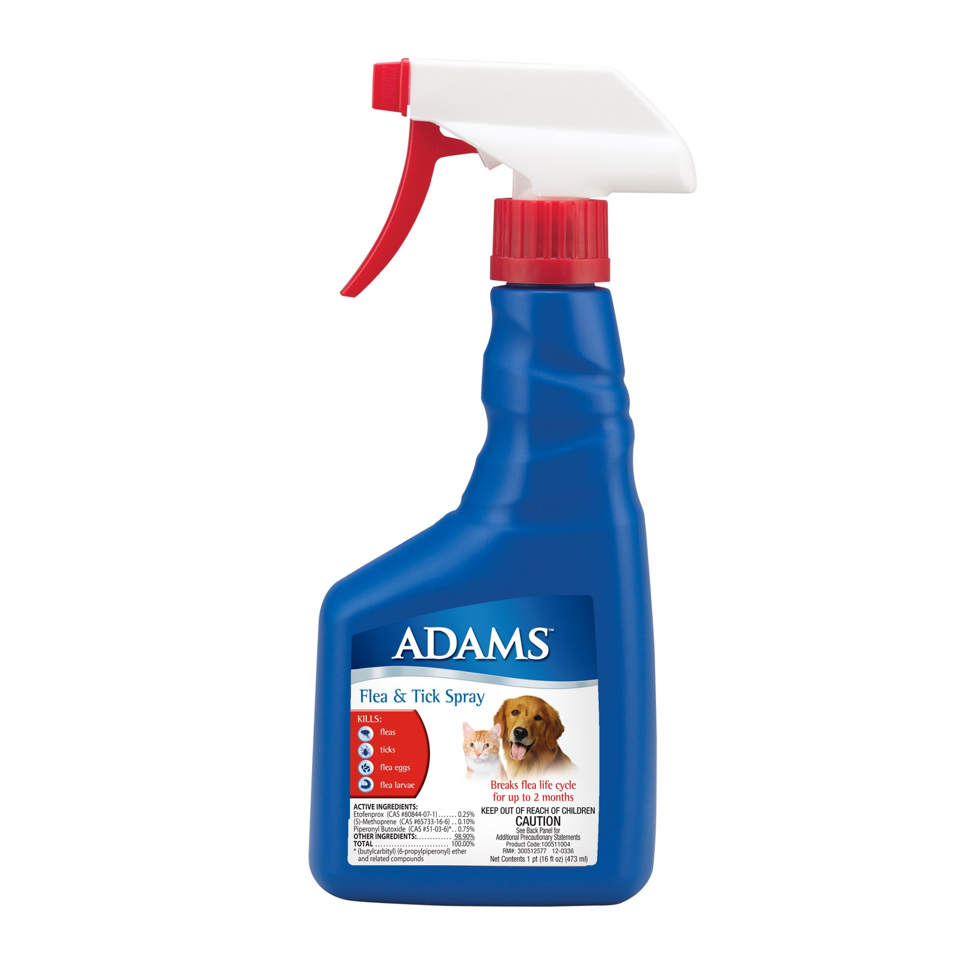 Adams Flea and Tick Spray for Cats and Dogs, 16 Oz by Adams