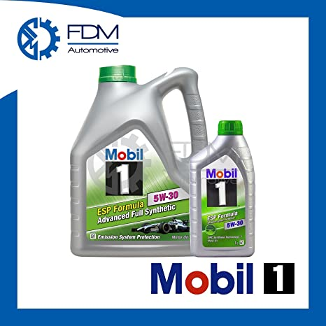 Aceite para motor Mobil1 ESP Formula 5W-30 Fully Synthetic, ...