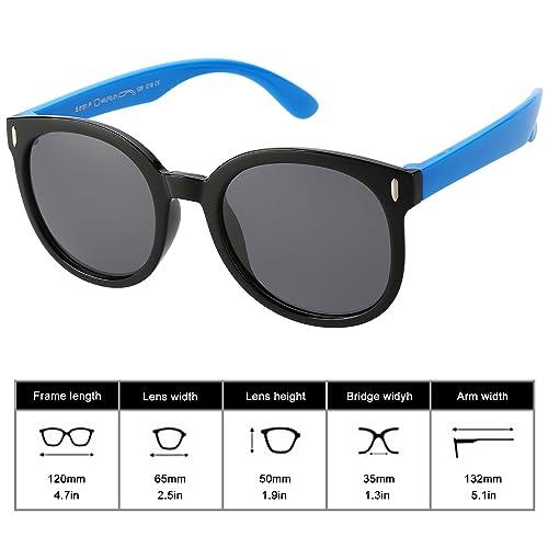 fe4e13b3b7 Brooben Rubber Flexible Kids Polarized Sunglasses for Baby and Children Age  3-10 S8181(