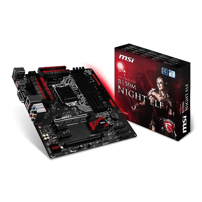 14 opinioni per MSI B150M NIGHT ELF Intel B150 LGA 1151 (Socket H4) microATX motherboard-