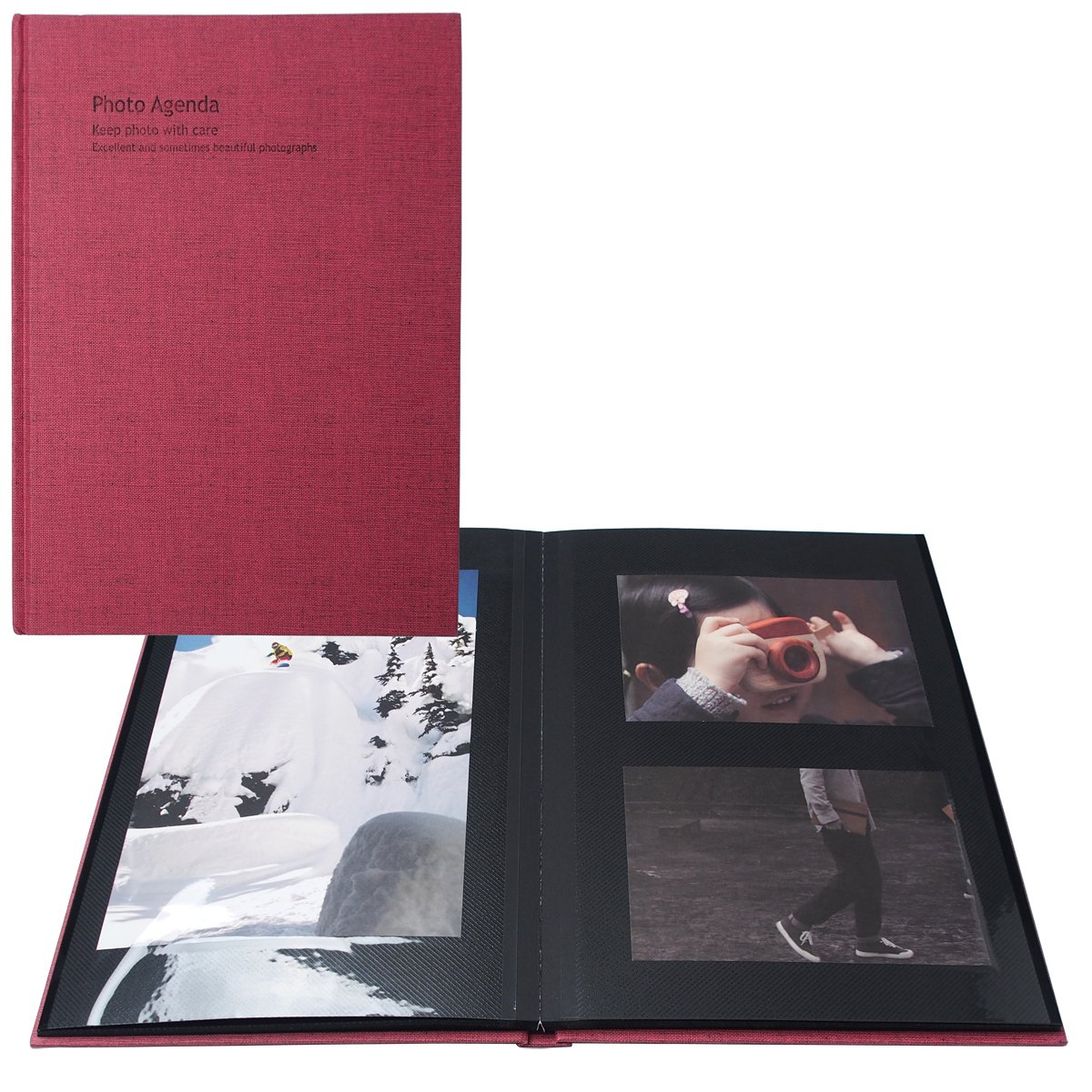 AHZOA Photo Agenda Self-adhesive Album, 40 Black Inner Pages (blue)