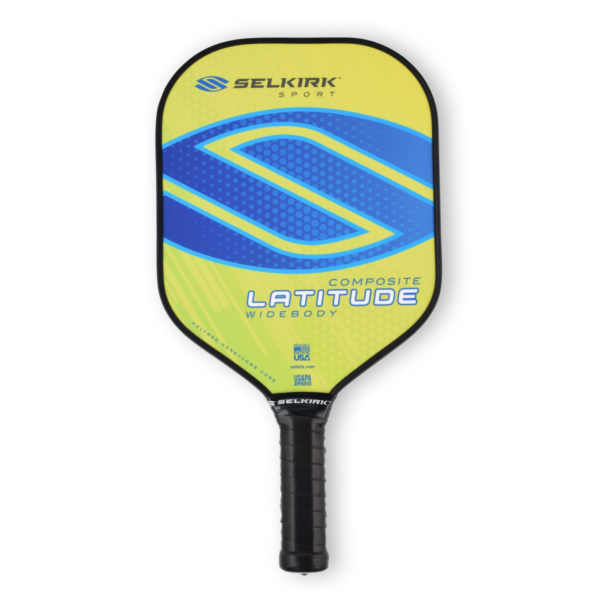 Selkirk Latitude Widebody Composite Pickleball Paddle - USAPA Approved - PowerCore Polymer Core - PolyFlex Composite Surface - EdgeSentry Protection - ThinGrip Handle (Lemon Blueberry) by Selkirk Sport