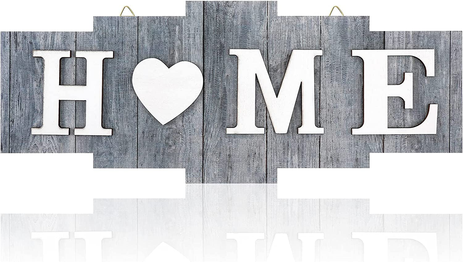 Home Signs for Home Decor, Wood Home Sign, Home Heart Rustic Wall Decor, Sweet Farmhouse Wooden Wall Sign Decoration Wood Letters Ornament for Bedroom, Living Room, Wedding Decor (Retro Color)