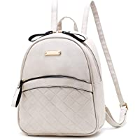 Mini PU Leather Backpack Rucksack Lightweight School Bag Small Daypacks Purse