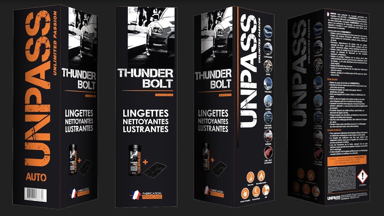 UNPASS - nettoyant auto -- 35 lingettes , microfibres ,é tui/fourreau étui/fourreau 900508