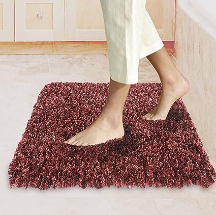 Bath Mats Non Slip Bathroom Rugs 34u0026quot;X 20u0026quot; With Microfiber Shag  Shower Tubs