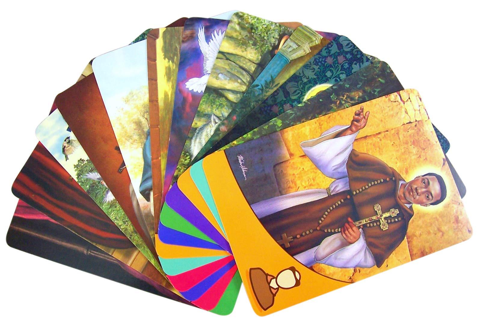 Catholic Kids Growing in Faith Patron Saint Flash Cards, Box of 100 by Catholic Saint Cards