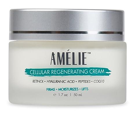 Amélie Retinol Crema con ácido hialurónico, Péptidos, CoQ10 & Vitamina B5. Anti Envejecimiento