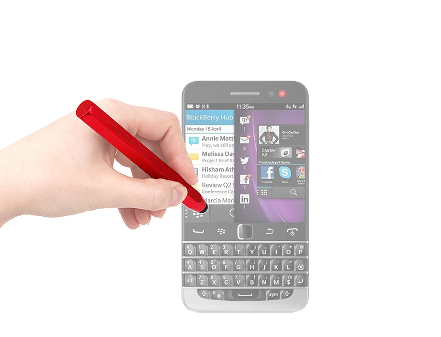 DURAGADGETレッドクレヨン' Touch Screen Stylusペンfor Blackberry q20 Touch/z3 Screen/Jakarta/z3/カーブ9370 B00I8J9WBS, アンティークマイクS:aa7d25d2 --- itxassou.fr