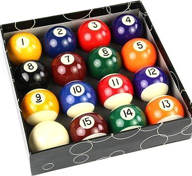 Funky Chalk 2 1/4 Inch Full Size Spots and Stripes Numbered Pool Balls Bolas de Billar Americanas numeradas de tamaño Completo con Lunares y Rayas de 2 1/4 Pulgadas, Unisex Adulto: Amazon.es: