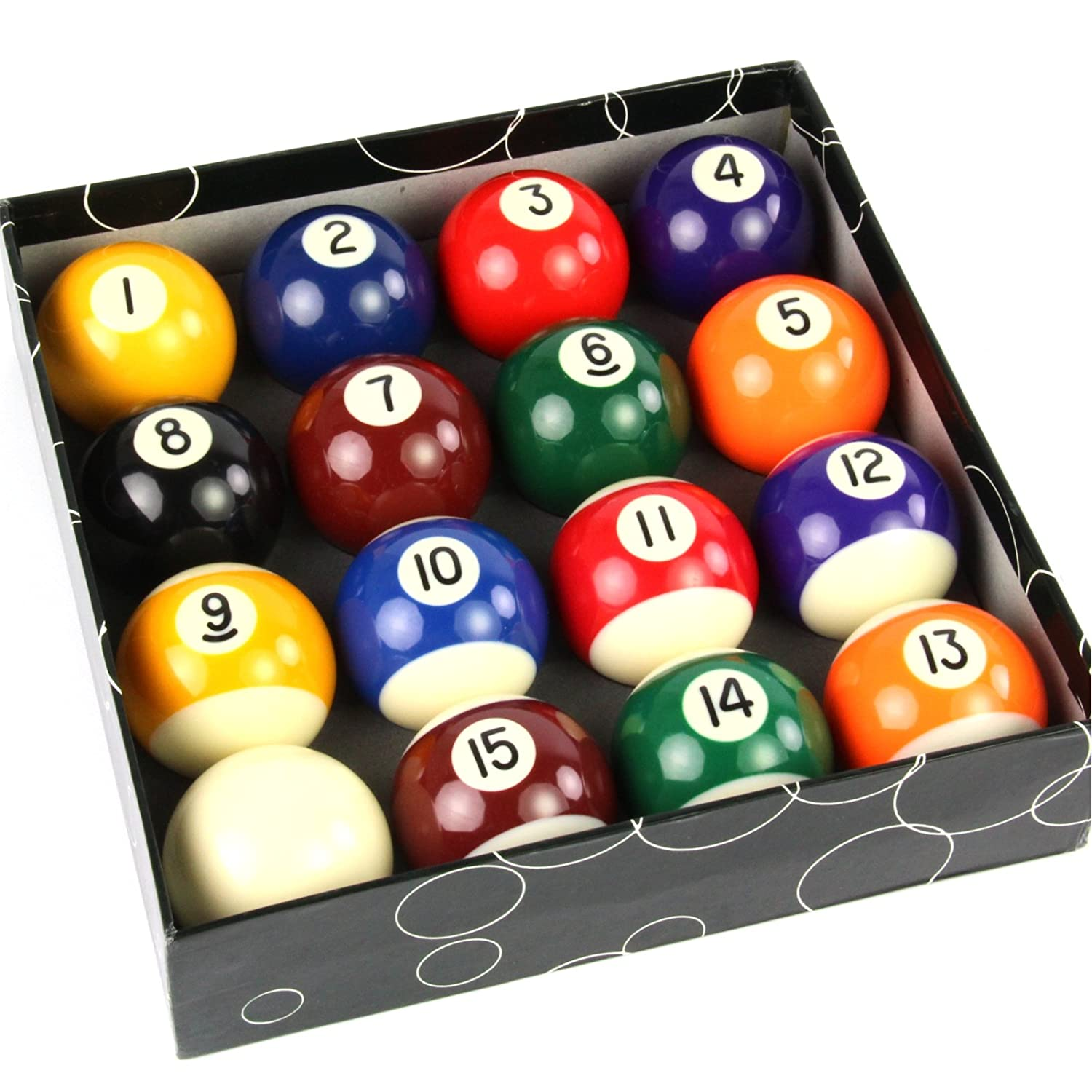 2 1/4Inch Spots and Stripes American Pool Balls by Funky Chalk