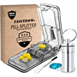 Pill Cutter for Small or Large Pills. The Best Multiple Pill Splitter Ever! Design in The USA. Doubles as a Pill Box…