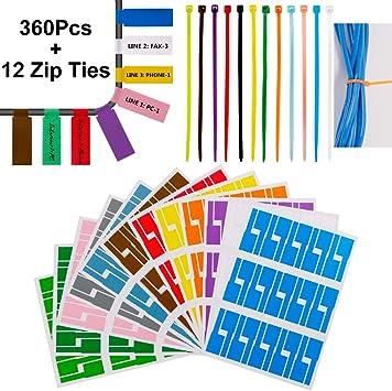 Lot de 30 /étiquettes autocollantes /étanches pour c/âble avec imprimante L`aser