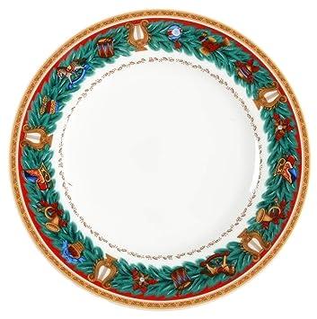 Amazon.com | Nikko CHRISTMAS TRADITION Bread & Butter Plates Set of ...