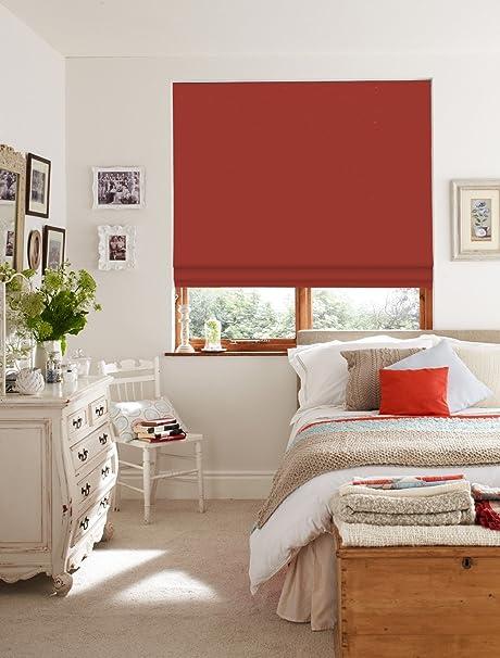 Red Roman Blinds Hot Fuzz Roman Blind Amazon Co Uk Kitchen Home