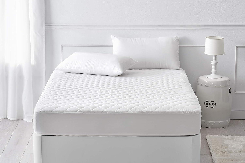 Pikolin Home - Protector de colchón acolchado cubre colchón Aloe Vera, impermeable y transpirable, 150 x 190/200 cm, cama 150 (Todas las medidas): ...
