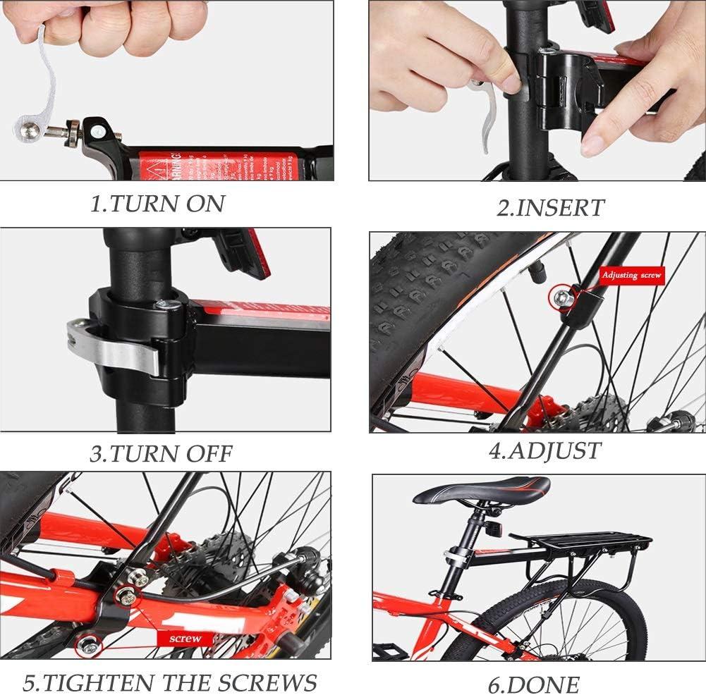 N / A HJWMM Durevole Portaequipajes Bicicleta, Regolabile Portabicicletas con Parafango Compatibilità Caricare 50 Kg per Mountain Bike Bici da Strada: Amazon.es: Deportes y aire libre