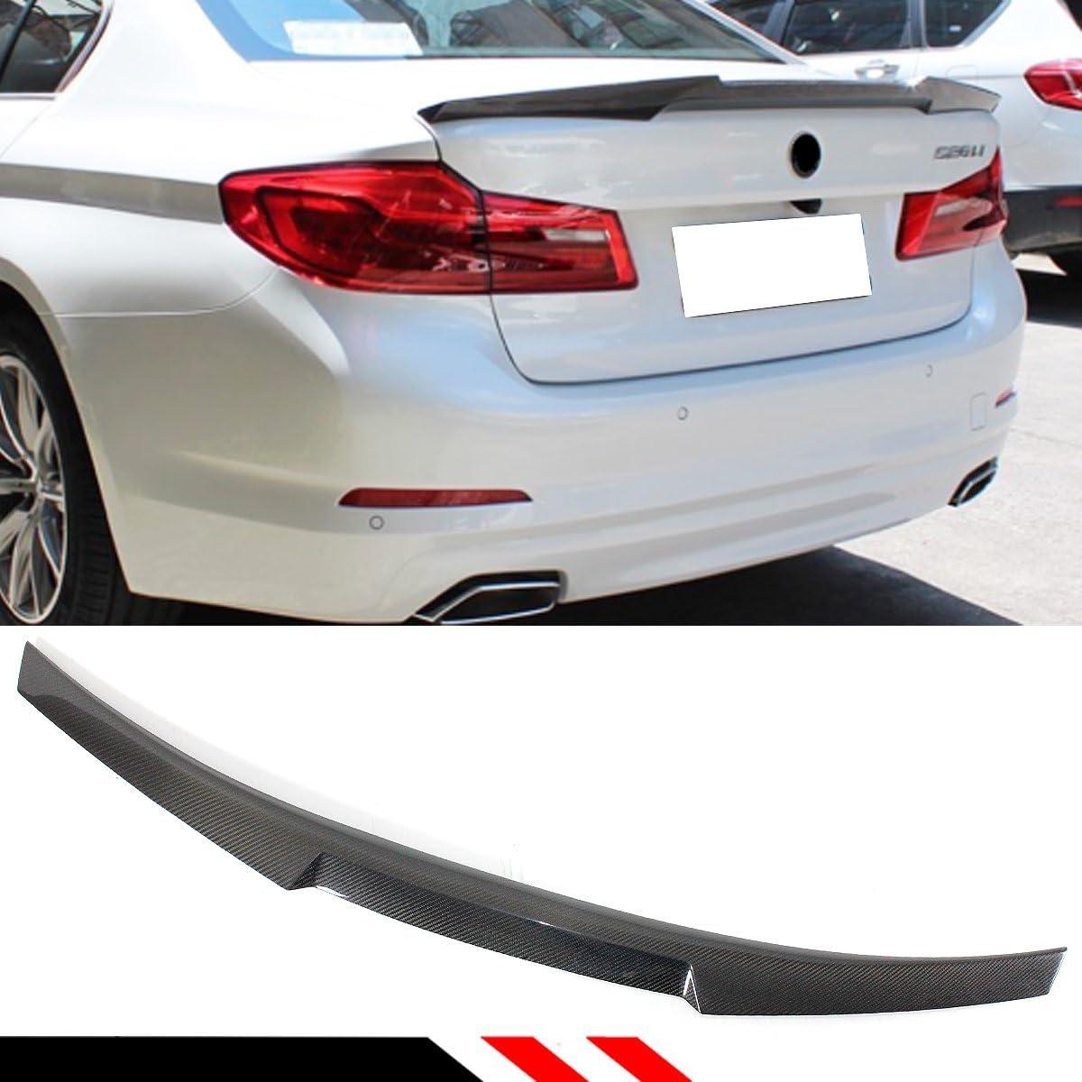 Fits 2017-2020 BMW 5-Series G30 M4 Style Carbon Fiber CF Trunk Spoiler