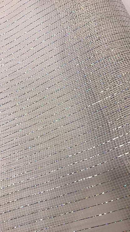 CrystalSilver Solid Metallic 21 Deco Mesh