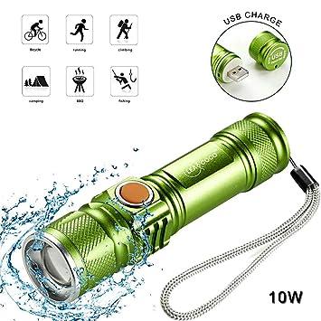 Amazon.com: Leacoco Linterna LED Brillante Mini Linterna ...