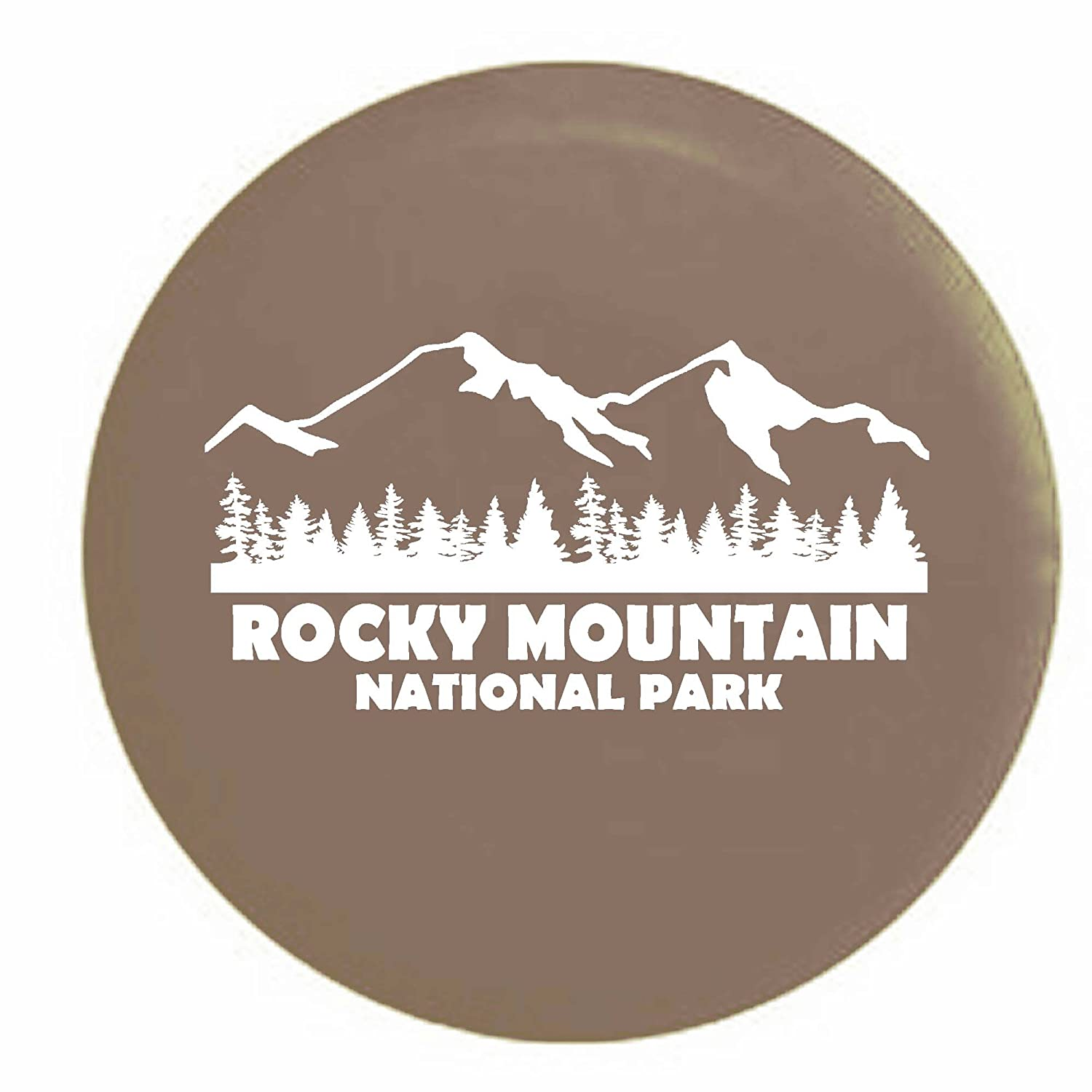 Pike Rocky Mountain National Park Colorado Trailer RV Spare Tire Cover OEM Vinyl Black 30 in Pike Outdoors