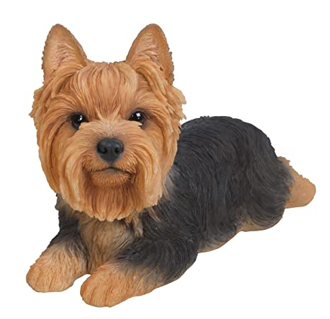 Vivid Arts Pet Pals Yorkshire Terrier LAYING Puppy Ornament by