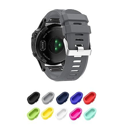 Supore Correa de Reloj para Fenix 5S, Correa de Banda de Reloj de Repuesto de Silicona Suave para Fenix 5S/Fenix 5s Plus/Fenix 6s/Fenix 6s Pro/Fenix ...