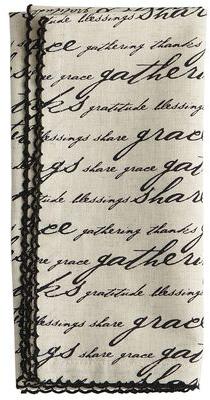 Gratitude Script Napkin | Pier 1 Imports
