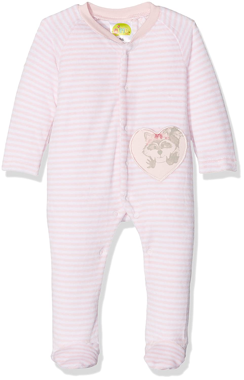 DIMO-TEX Baby Girls' Natubini Newborn Nickyanzug Mit Fuß Footies 172376