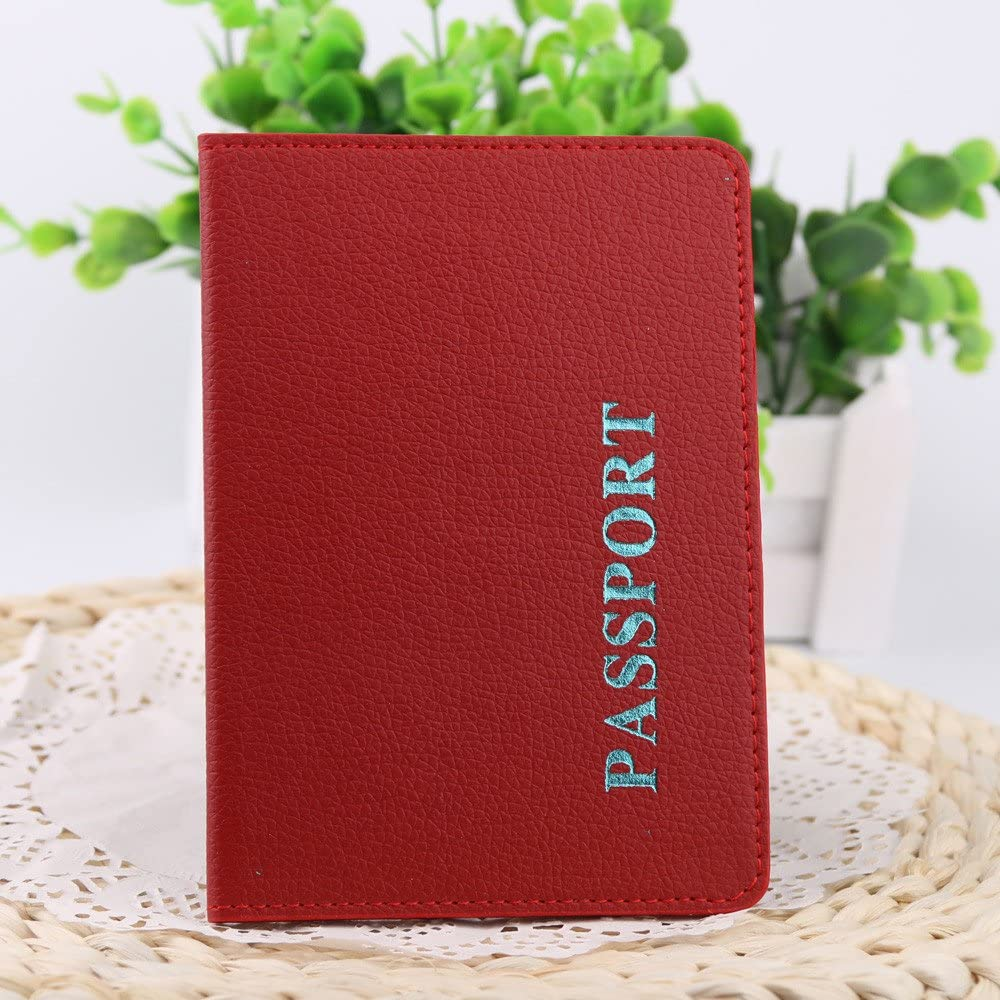 3.86 Lx0.39W x5.59 H Passport Cover FunDiscount Faux Leather Passport Holder Travel Wallet ID Card Case Vintage Day Clutches Handbag Document Organizer Protector for Men /& Women Blue