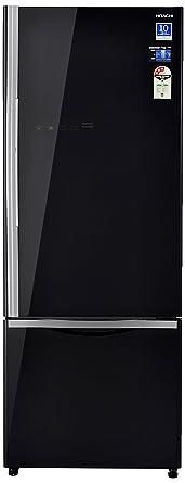 Hitachi 466 L 3 Star Frost Free Double Door Refrigerator(R-B500PND6 - GBK, Glass Black, Inverter Compressor)