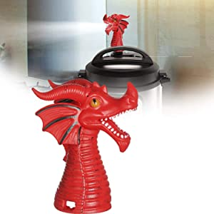 EBBCOWRY Fire-Breathing Dragon Original Steam Release Accessory, Steam Release Diverter for Instant Pot Pressure Cooker, Steam Diverter Tool for Most Models Pressure(1pc Red)