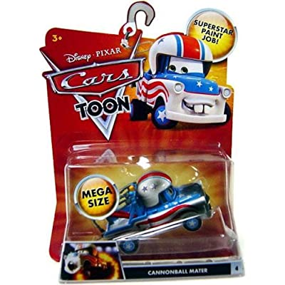 Disney Pixar Cars Toon Mater the Greater Cannonball Mater Mega Size Vehicle: Toys & Games