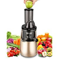 "Slow Masticating Juicer Tiluxury With Wide Chute Anti-Oxidation (250W AC Motor,40 RPMs,3"" Big Mouth),Whole Fruit and Vegetable Vertical Cold Press Juicer,BPA-Free for Healthy Diet"