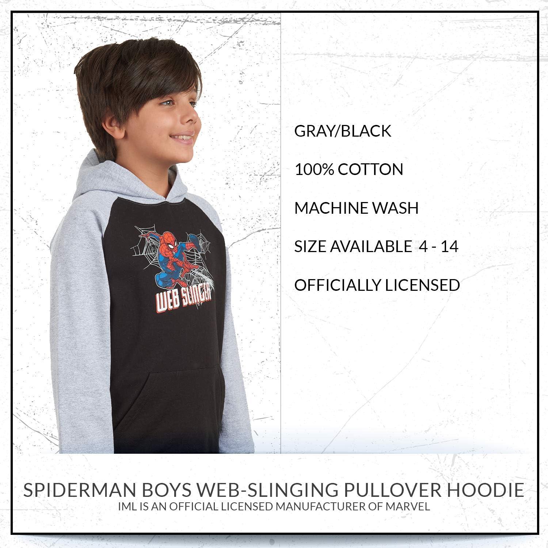 Spiderman Boys Web-Slinging Pullover Hoodie