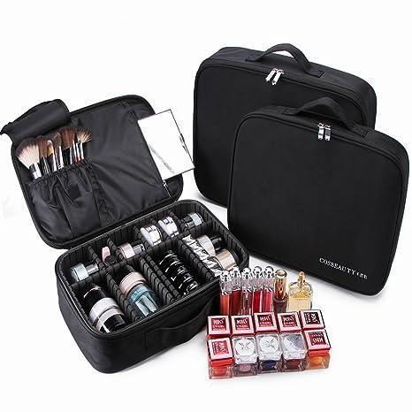2689521fb Maletín Maquillaje Profesional Grande, Neceser Bolso Organizador de Maquillaje  Cosmeticos Joyería Joyas Joyero Cepillos Perfume