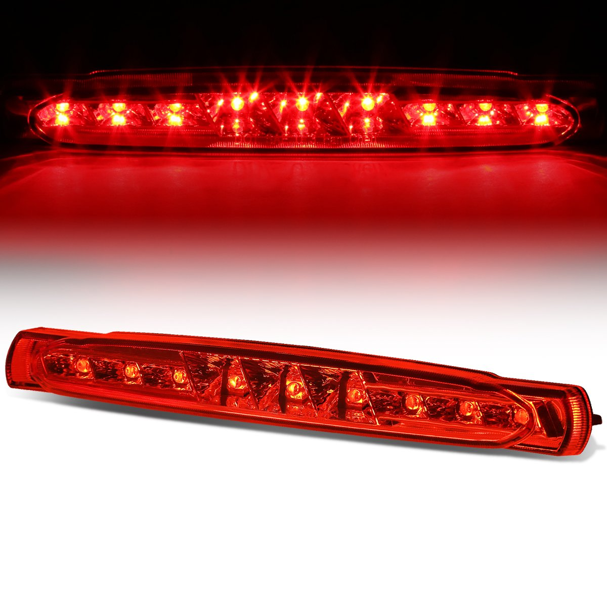 For Chevy Corvette C5 Rear High Mount LED 3rd Brake Light (Red Lens) Auto Dynasty