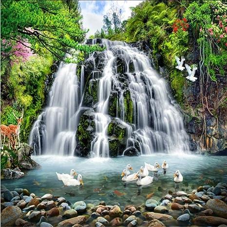 Amazon Com Xbwy Custom 3d Wallpaper Hd Forest Landscape