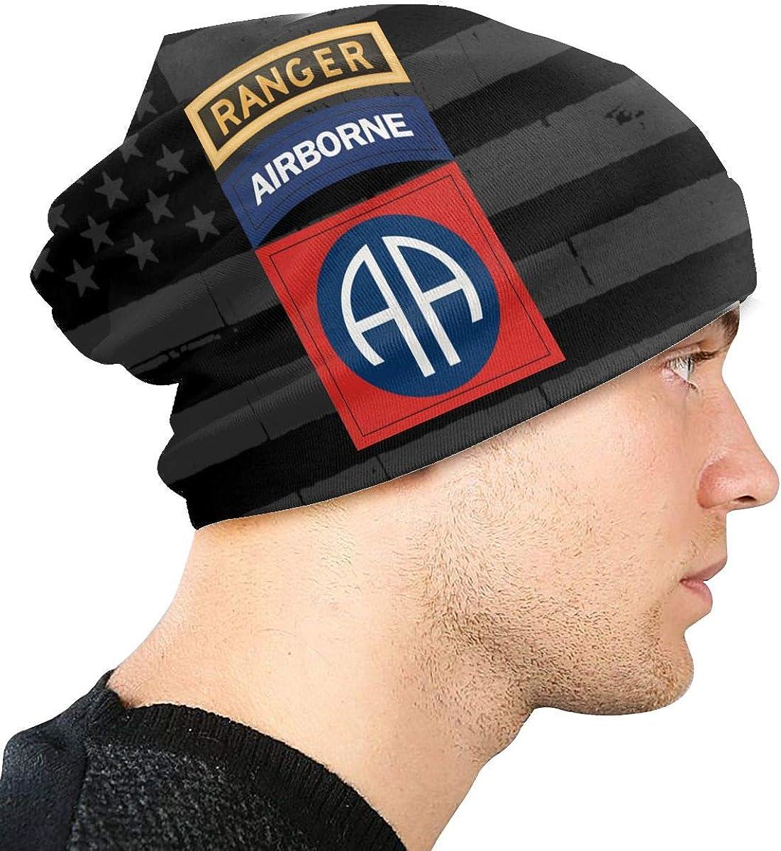 JINGUImao 82nd Airborne with Ranger/ Unisex Warm Hat Knit Hat Skull Cap Beanies Cap