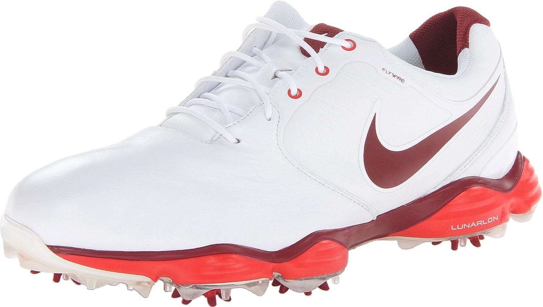 sports shoes 36588 14e33 Amazon.com   NIKE Golf Men s NIKE Lunar Control II Golf Shoe,  White Challenge Red Team Red, 9 D(M) US   Golf