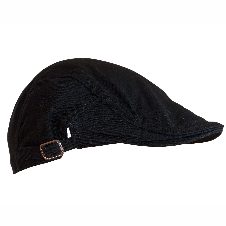 Dazoriginal Flat Cap Newsboy Cotton Bakerboy Dai Cap Hunting Hat Peakcaps  Black black Flat Cap Cotton larger image 1064390d43e1
