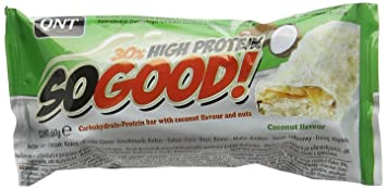 Etonnant QNT 60 G White Chocolate And Coconut So Good Protein Bar   Pack Of 15
