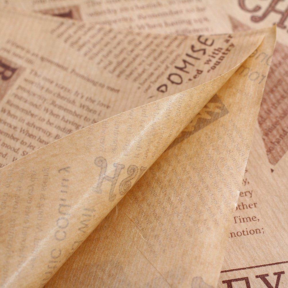 VORCOOL 50/fogli di Carta Usa E Getta alimentare carta kraft alimentare carta Liners Cesta Cesta Liners Deli carta da imballaggio carta Giornale fogli di Carta di cottura